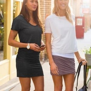 Athleta Odyssey Ruched T-Shirt Dress | Medium
